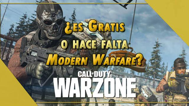 ¿Es gratis COD: Warzone o hace falta tener Modern Warfare para poder jugar?
