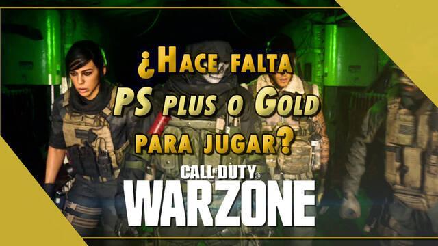 CoD: Warzone - ¿Hace falta PS Plus o Gold para jugar?