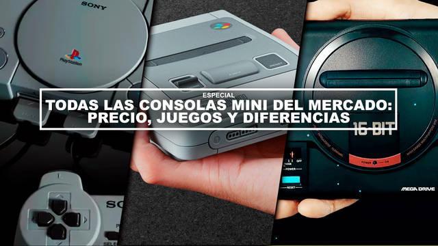 Todas las consolas Mini del mercado: Precio, juegos y diferencias