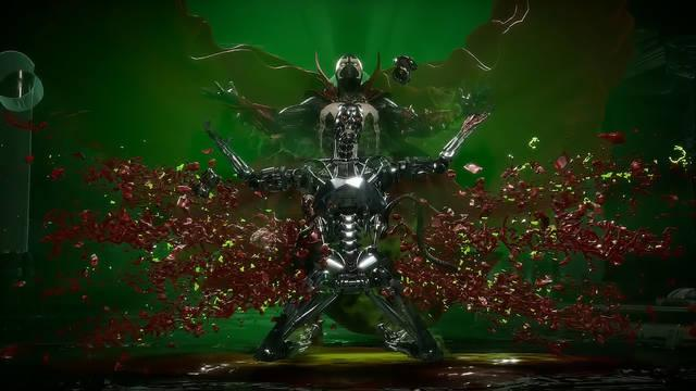 Spawn en Mortal Kombat 11 fatality, brutality y fatal blow