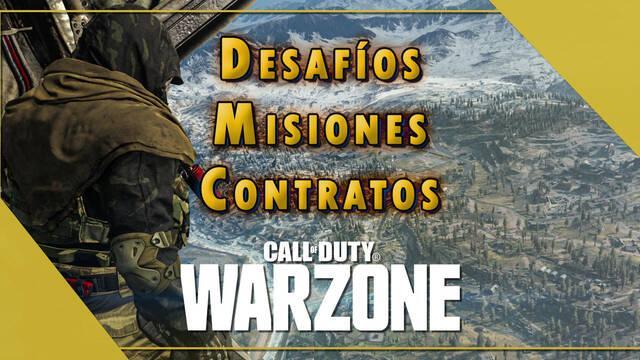 COD Warzone: ¿Cómo activar y completar los Desafíos, Misiones y Contratos?