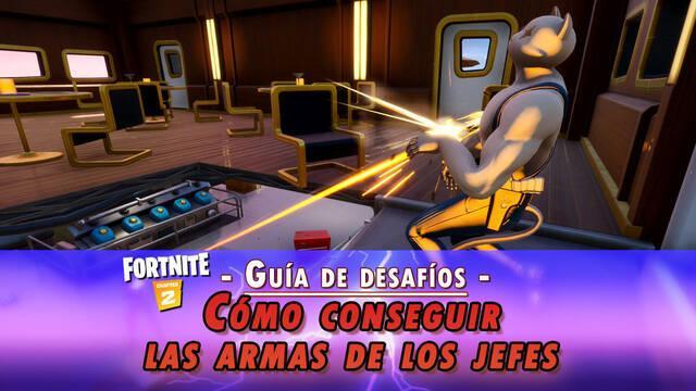 Desafío Fortnite: Recoge diferentes armas de jefes - SOLUCIÓN