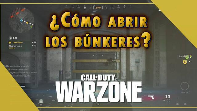 Cómo abrir los búnkeres en CoD: Warzone - Mapa y recompensas