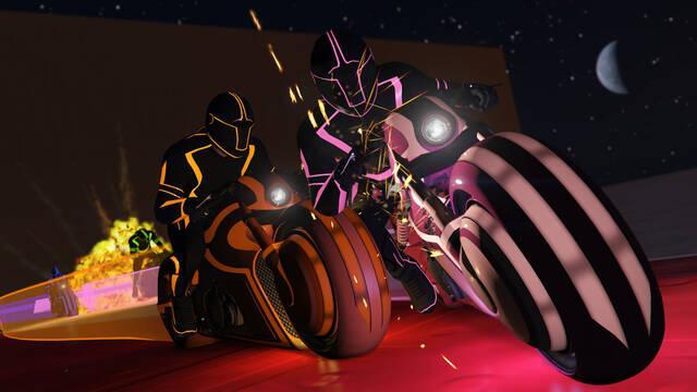 La nueva moto de GTA Online recuerda a las de Tron.