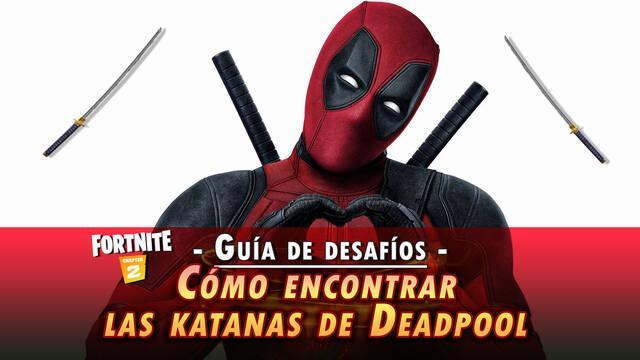 Desafío Fortnite: Encuentra las katanas de Deadpool - SOLUCIÓN