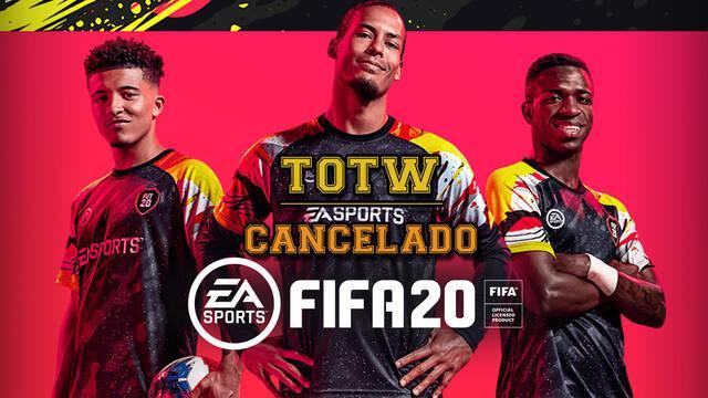 FIFA 20 totw cancelado