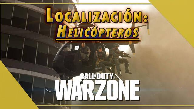 Call of Duty Warzone: todos los Helicópteros y su localización en el mapa