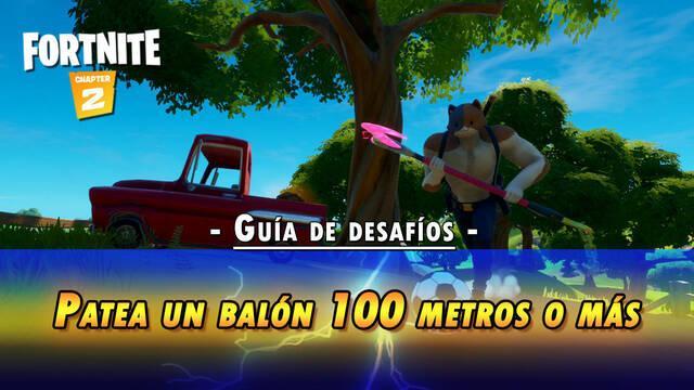 Desafío Fortnite: Chuta una pelota de fútbol a 100 metros - SOLUCIÓN