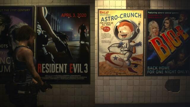 Referencias en los carteles de la demo de Resident Evil 3 Remake.