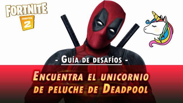 Desafío Fortnite: Encuentra el unicornio de peluche de Deadpool - SOLUCIÓN