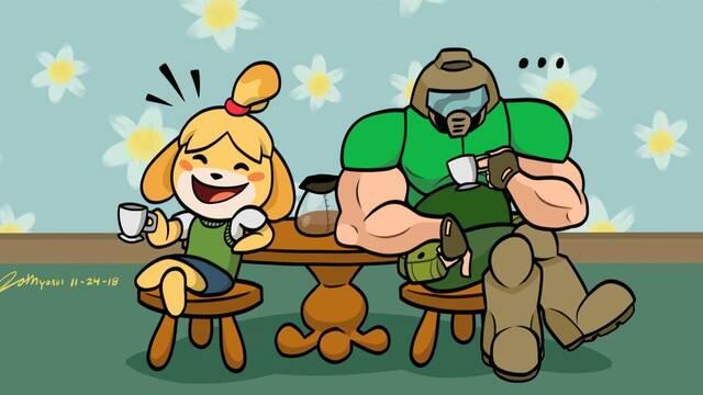 Doom Eternal y Animal Crossing juntos