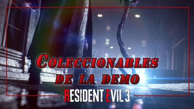 TODOS los coleccionables de la demo de Resident Evil 3 y cómo encontrarlos