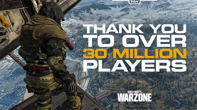 A Call of Duty: Warzone le han bastado diez días para superar los 30 millones de jugadores.