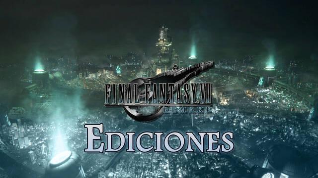 Todas las ediciones de Final Fantasy VII Remake: precios y contenido
