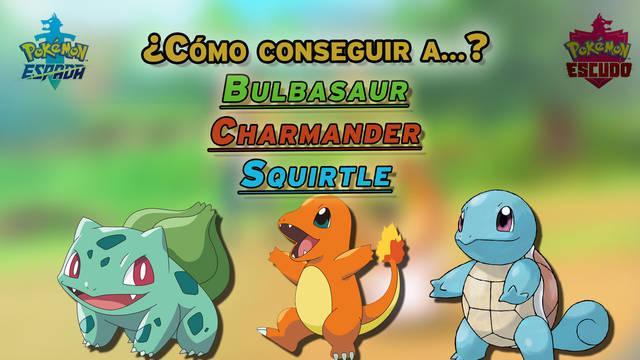 Cómo conseguir a Bulbasaur, Charmander y Squirtle en Pokémon Espada y Escudo