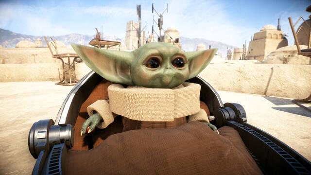 Baby Yoda en Star Wars Battlefront 2