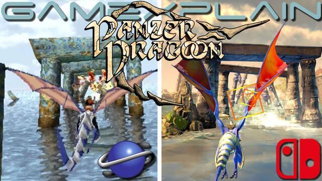 Comparan los gráficos de Panzer Dragoon con los de su remake.