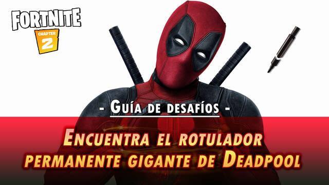 Desafío Fortnite: Encuentra el rotulador negro de Deadpool - SOLUCIÓN