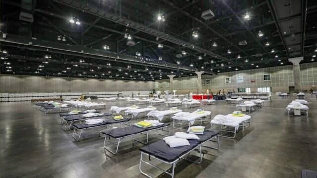 E3 convertido en un hospital