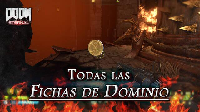 TODAS las Fichas de Dominio en DOOM Eternal: Localización y dónde encontrarlas