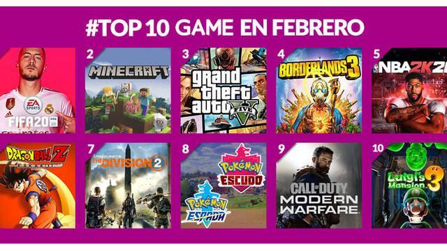 GAME muestra sus juegos más vendidos de Febrero