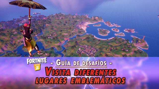 Desafío Fortnite: Visita diferentes lugares emblemáticos - LOCALIZACIÓN