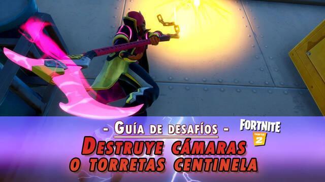 Desafío Fortnite: Destruye cámaras o torretas centinela - SOLUCIÓN