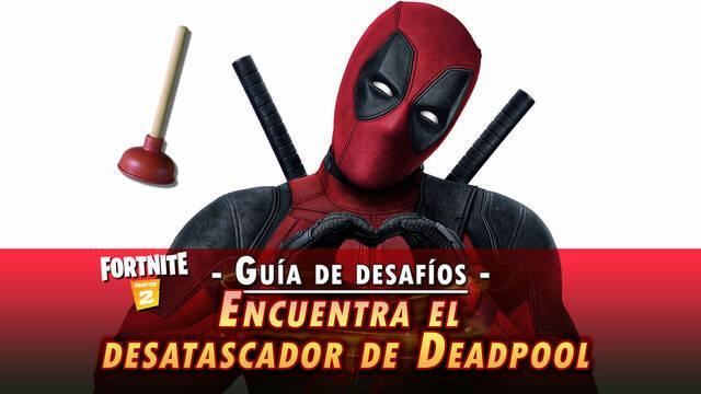 Desafío Fortnite: Encuentra el desatascador de váter de Deadpool - SOLUCIÓN