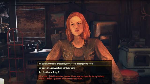 Fallout 76 Wastelanders diálogos