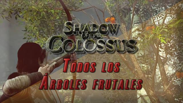 Todos los árboles de frutas en Shadow of the Colossus PS4 para aumentar salud