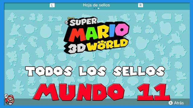 Super Mario 3D World: TODOS los sellos del Mundo 11