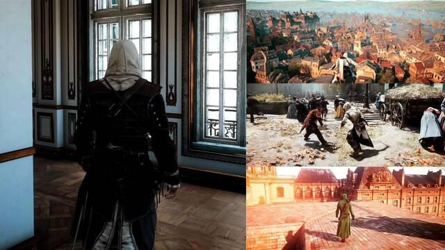 Así luce Assassin's Creed Unity con mods de ray-tracing