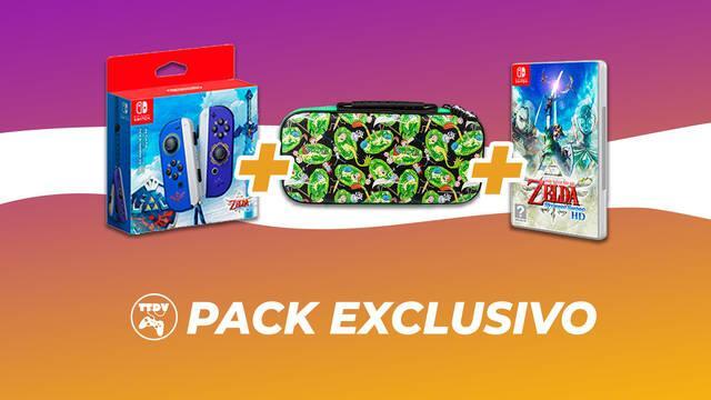 TTDV pack exclusivo Zelda Skyward Sword Joy-Con