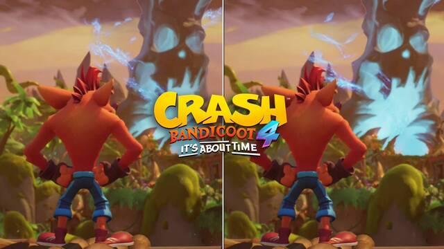 Comparan los gráficos de Crash Bandicoot 4: It's About Time en PS5, Xbox Series X y Switch.