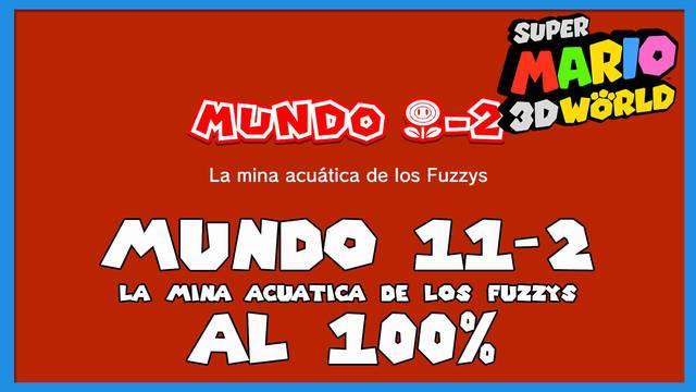 Super Mario 3D World: La mina acuática de los Fuzzys al 100%