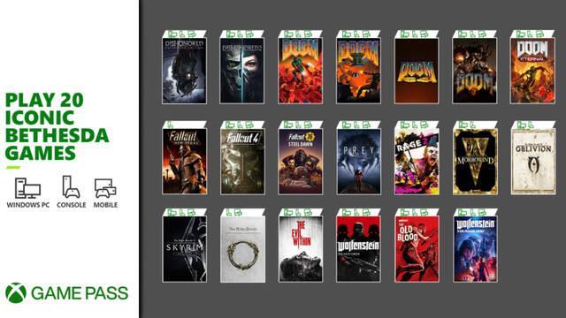 Xbox Game Pass recibe mañana 20 nuevos juegos de Bethesda.