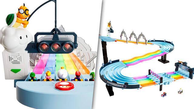 Hot Wheels prepara una pista dedicada a Rainbow Road Raceway de Mario Kart