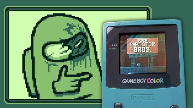 Crean un juego para Game Boy inspirado en Among Us.