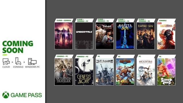 Nuevos juegos de marzo en Xbox Game Pass.