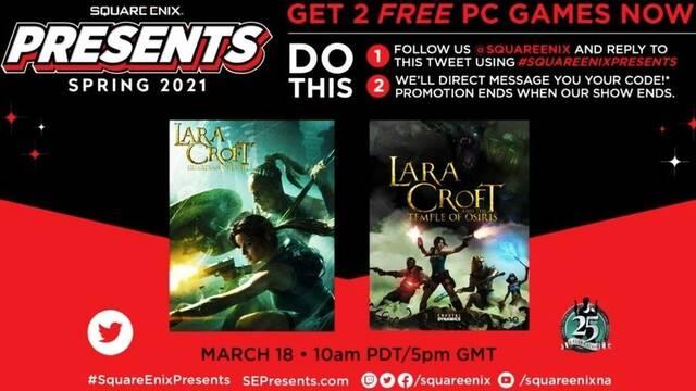 Square Enix regala dos juegos de Tomb Raider