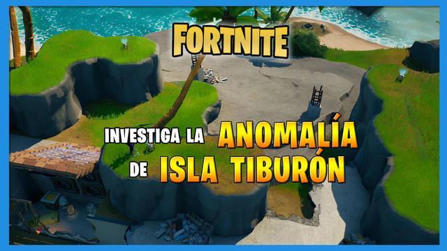 Fortnite: dónde encontrar la anomalía de Isla Tiburón