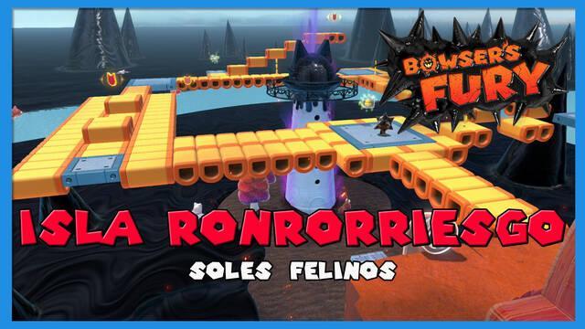 TODOS los Soles felinos de Isla Ronrorriesgo en Bowser's Fury