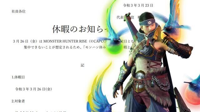 Una empresa japonesa da el día libre a sus empleados para jugar Monster Hunter Rise.