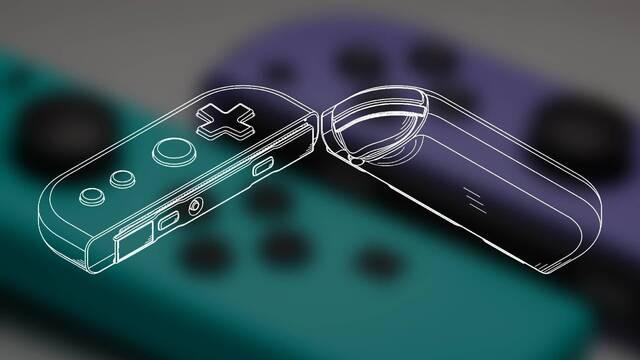 Así serían los Joy-Con de Switch Pro según una patente de Nintendo.