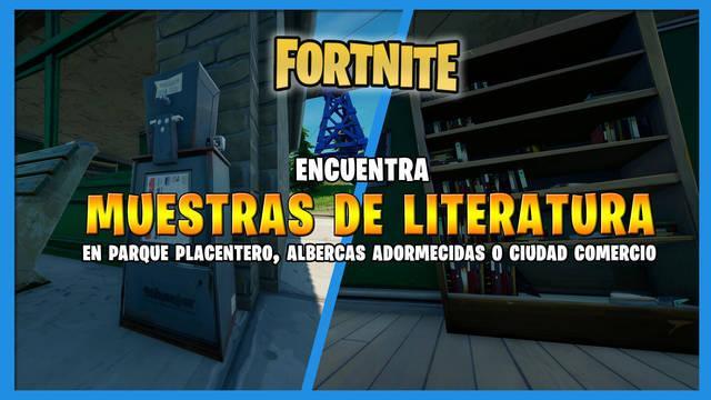 Fortnite: ¿dónde encontrar muestras de literatura? - Localización