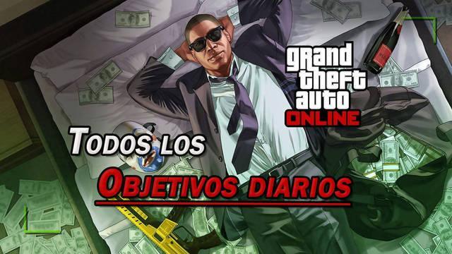 Objetivos diarios de GTA Online: Todas las recompensas y listado completo
