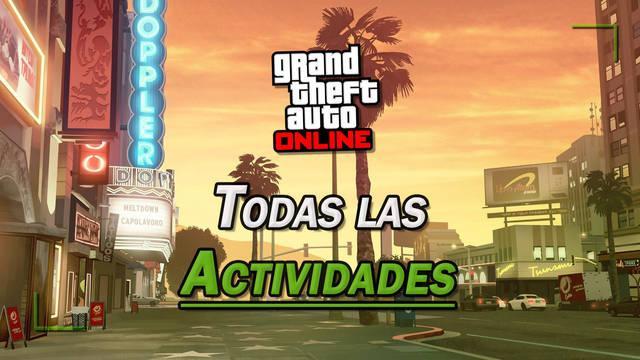 GTA Online: TODAS las actividades y cómo crear partidas personalizadas
