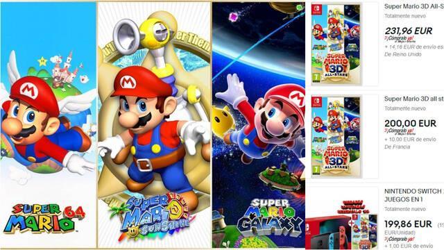 Super Mario 3D All-Stars especuladores ebay