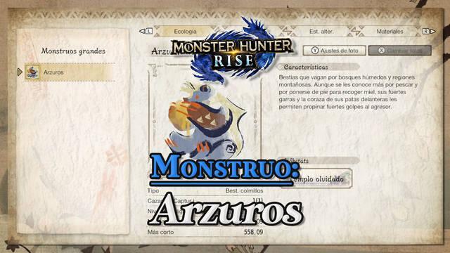 Arzuros en Monster Hunter Rise: cómo cazarlo y recompensas