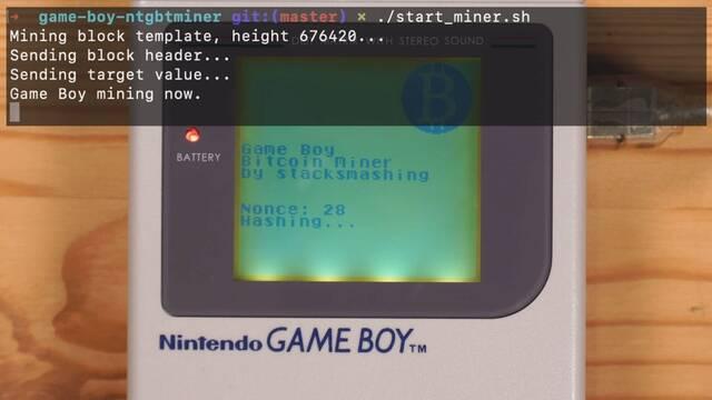 Game Boy puede minar Bitcoin